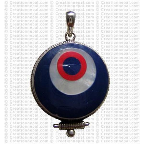 Tibetan eye ball pendant
