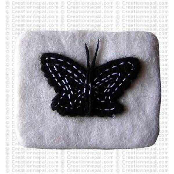 Butterfly felt coin purse 2