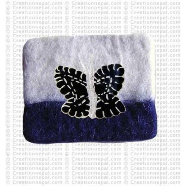 Butterfly felt coin purse 3