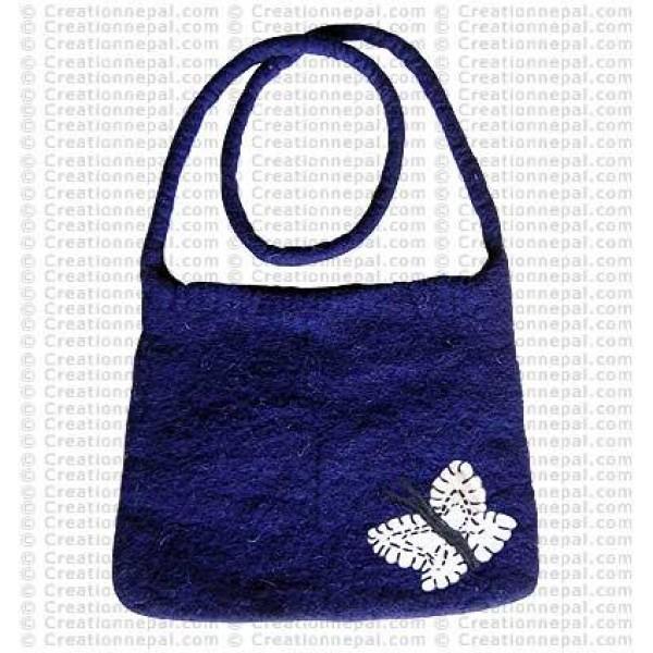 Plain felt shoulder bag