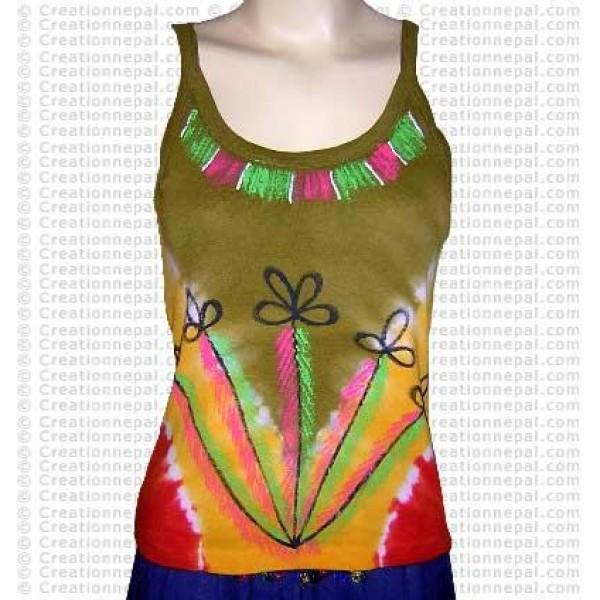 Unique tie-dye rib cotton t-shirt 4