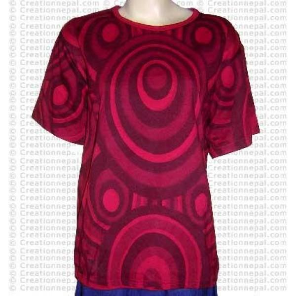 Printed rib cotton t-shirt 2