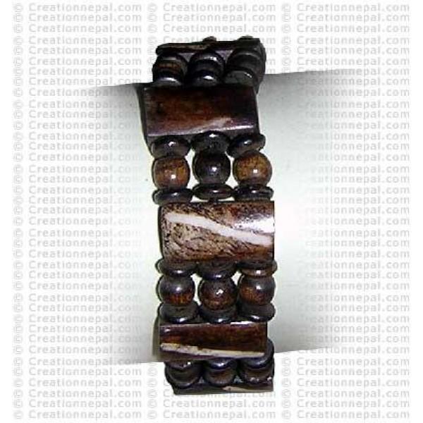 Multi shapes beads bone bracelet