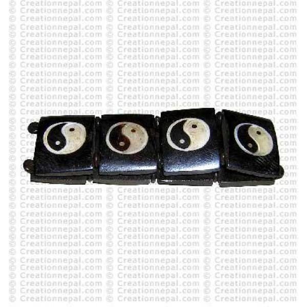 Ying-Yang bone bracelet