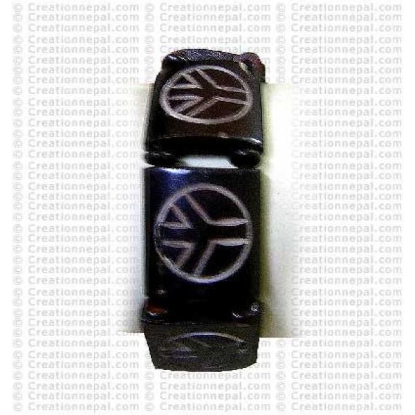 Peace sign bone bracelet