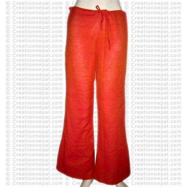 Plain cotton trouser