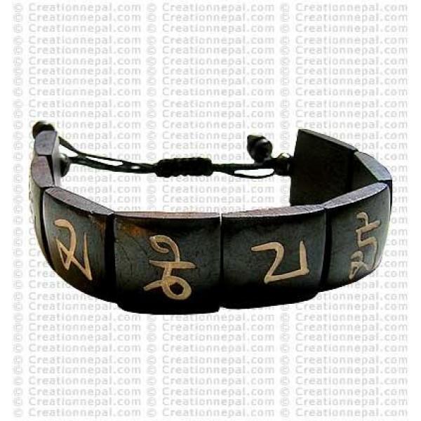 Om mani bone bracelet