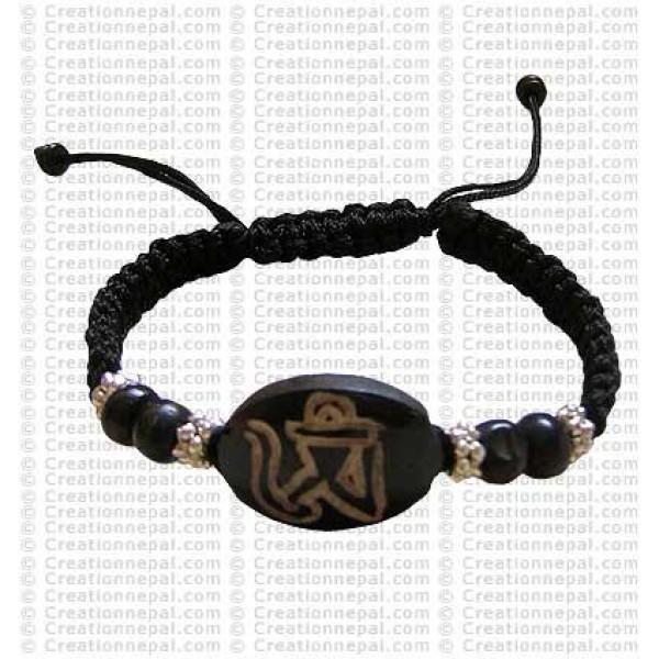 Om bone Bracelet 1