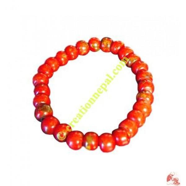 Bone beads wristband