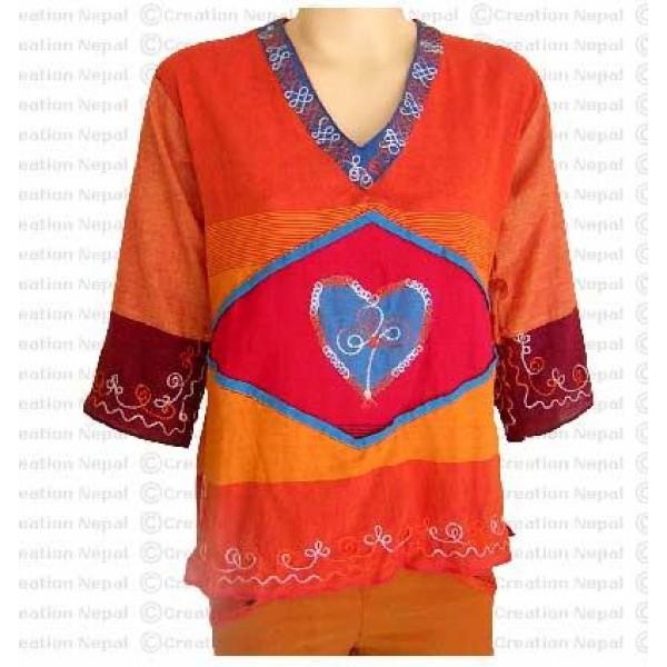 Heart design cotton top