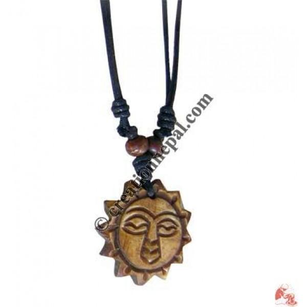 Sun bone pendant