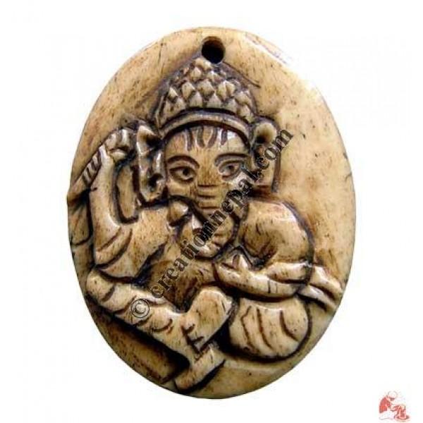 Ganesh carved pendant