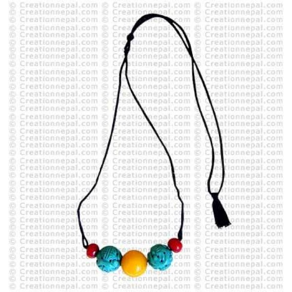 Carved Turq necklace