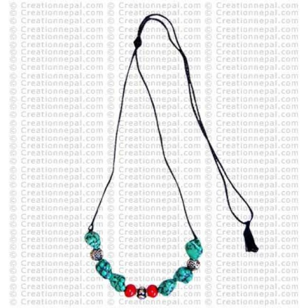 Odd-shapes Turq necklace