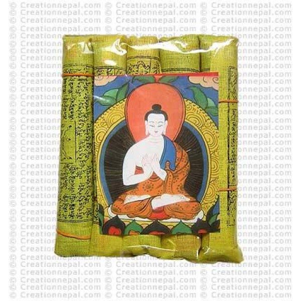 Tiny prayer flags (packet of 5 rolls)