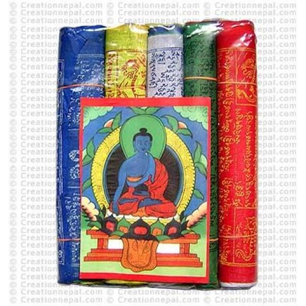 Cotton Medium prayer flags (packet of 5 roll)