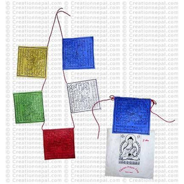 Natural paper prayer flag 9 (Packet of 5 string)