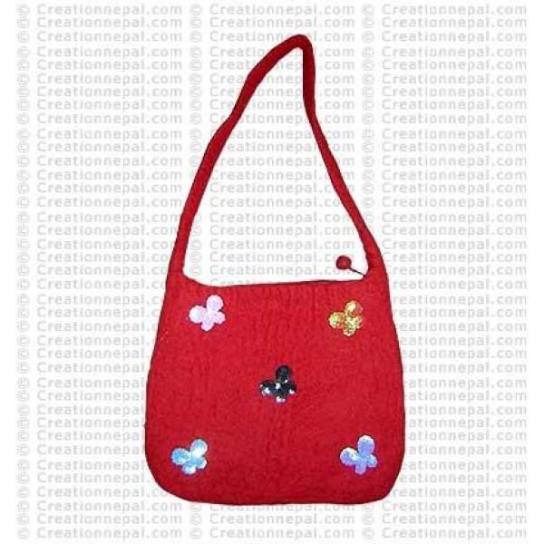 Sitara butterfly felt bag 65