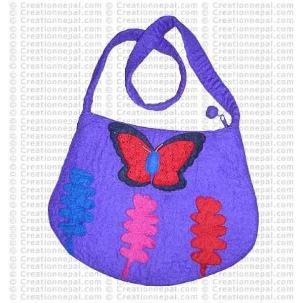 Butterfly felt bag 3