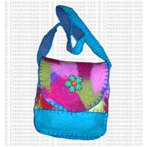 Tie-dye joined felt bag 12