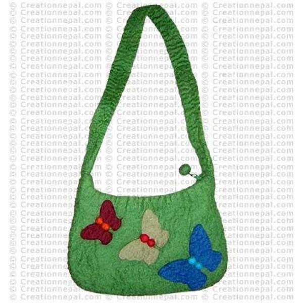 Three butterfly felt bag 1