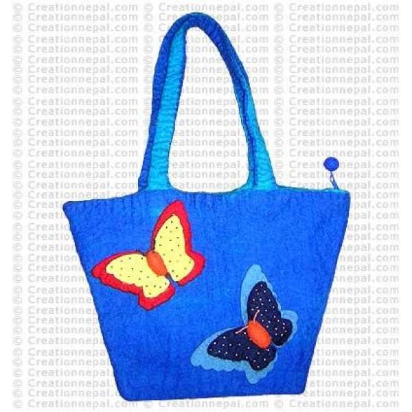 Two butterfly basket felt bag 4
