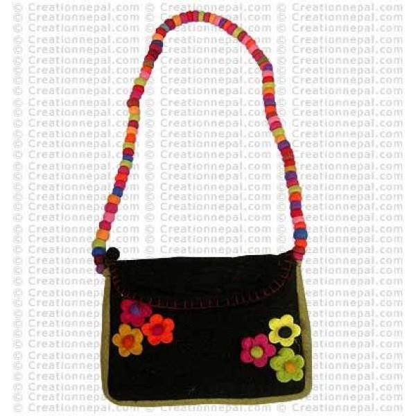 Balls strap flower felt bag 161
