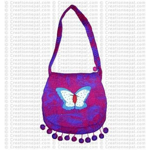 Butterfly tie-dye felt bag 145