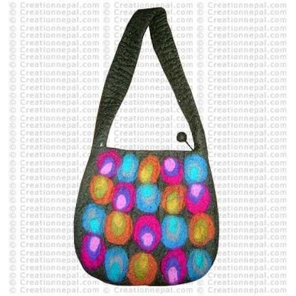 Colorful dots felt bag 170