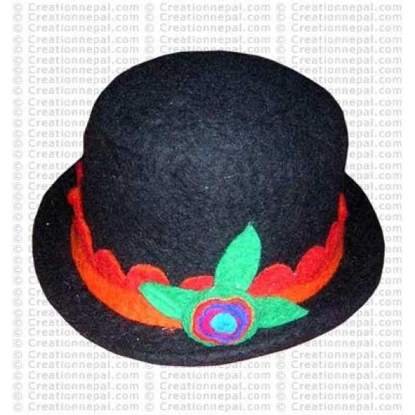 Flower felt hat 3