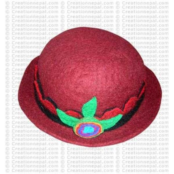 Flower felt hat 5