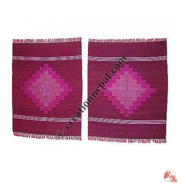 Dhaka dining table mats-maroon (set of 6)