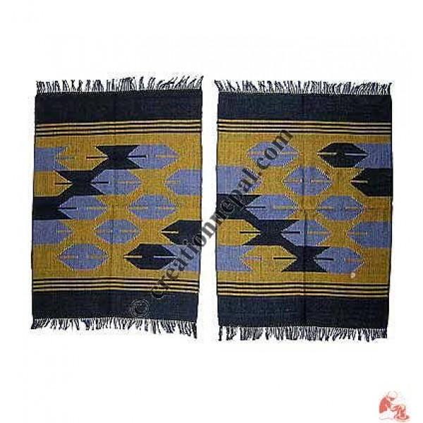 Dhaka dining table mats-yellow (set of 6)