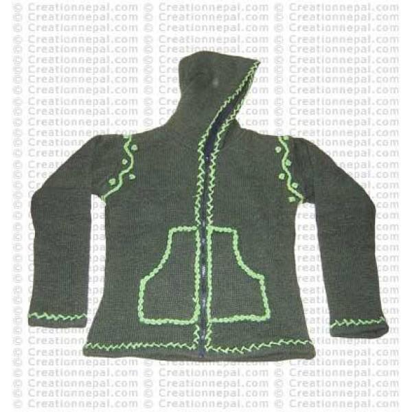 Crochet design woolen jacket 01