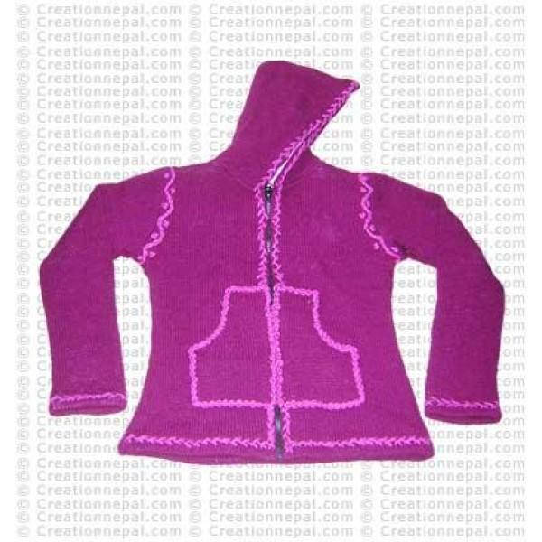 Crochet design woolen jacket 02
