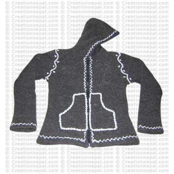 Crochet design woolen jacket 04