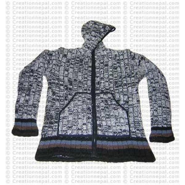Woolen tie-dye jacket 01