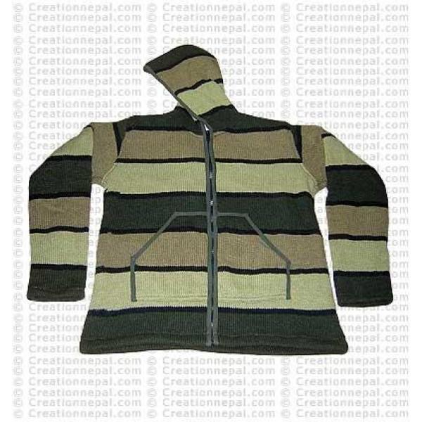 Woolen striped light jacket 02