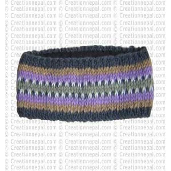 Woolen stripe head band 1