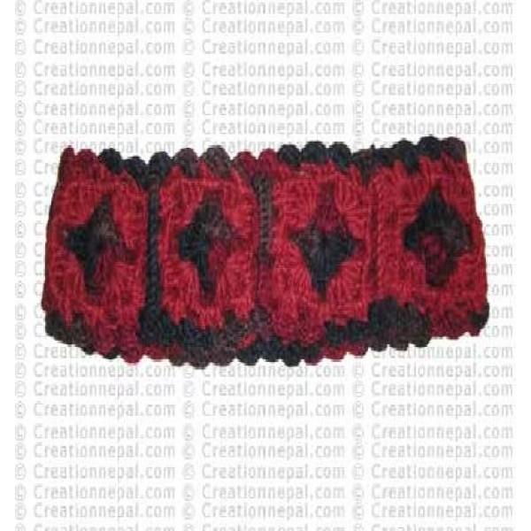 Woolen flower head band 1