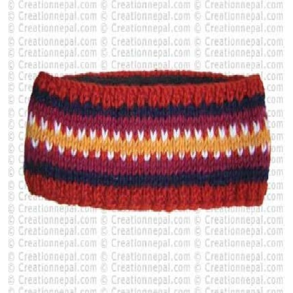 Woolen stripe head band 2