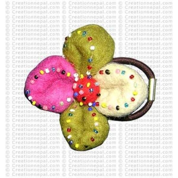 Beads decorated felt hair band 2
