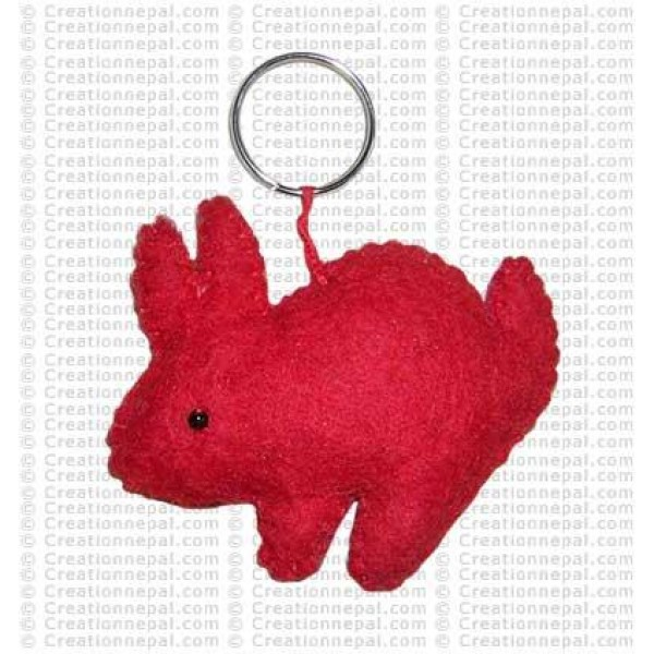 Plain rabit Key-ring