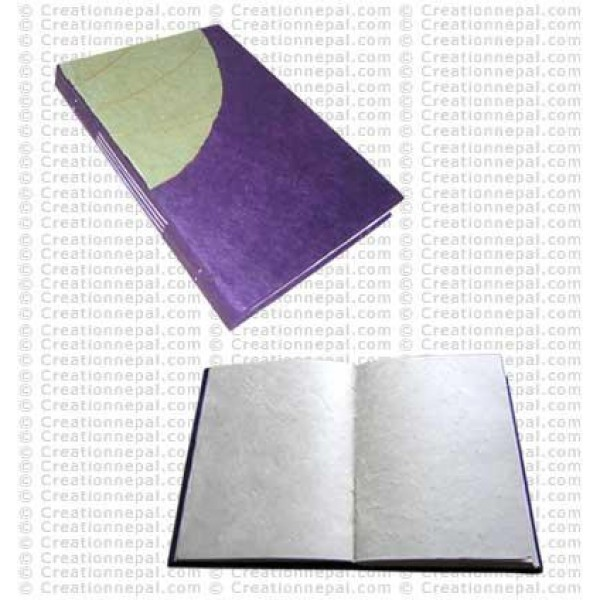 Natural leaf patch notebook 01