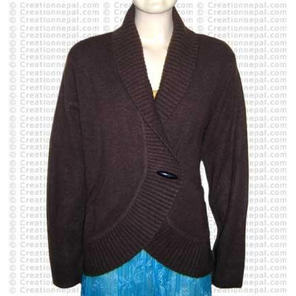 Cross design Pashmina sweater