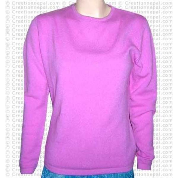 Round-neck Pashmina sweater