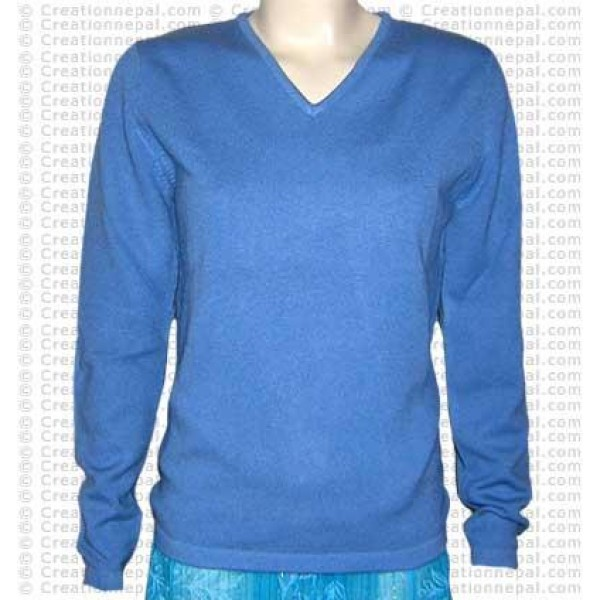 V-neck Pashmina sweater