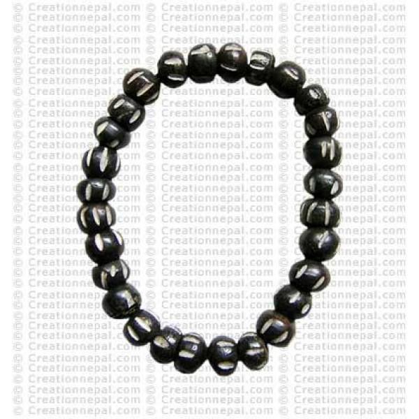 Bone beads wristband 01