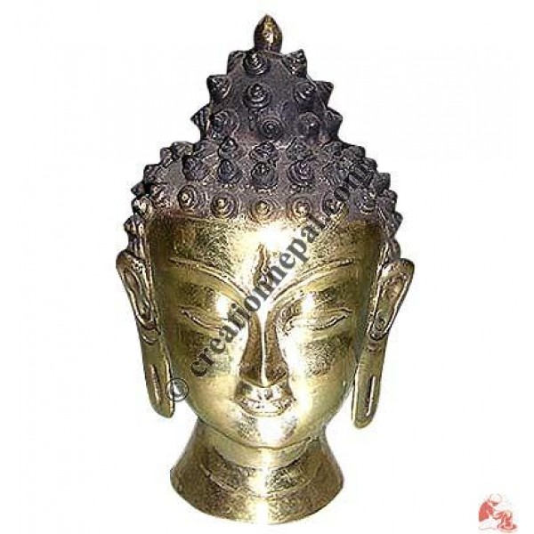 Metal Buddha head 15cm