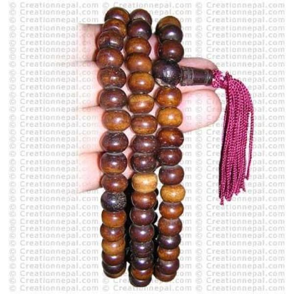 Plain brown beads Mala